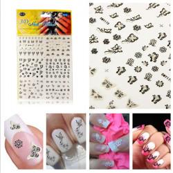 Butterfly Flower Nail Art Tips Tattoos Water Transfer Decals Sticker