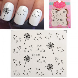 Dandelion Design Water Transfer Nail Art Sticker Decal