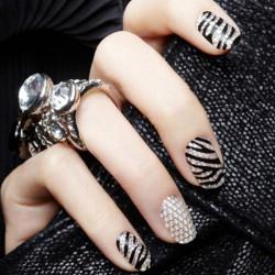 Diamond Rhinestone Nail Art Sticker 3D Design Stickers
