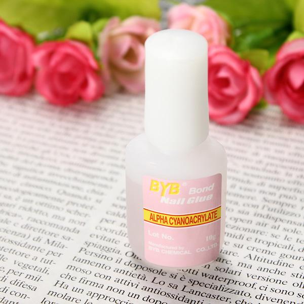 Durable Glitter Nail Glue With Borste Nail Art Adhesive Supplies Naglar