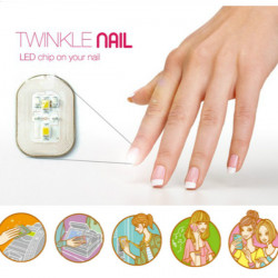 Fantastiska NFC Nagelsticker Flash LED Magiska Dekal Party Club