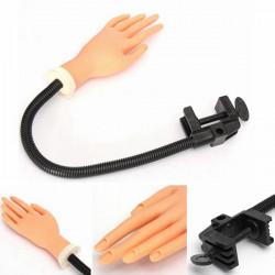 Flexibel Soft Nail Träning Trainer Handverktyg med Hållare Stand