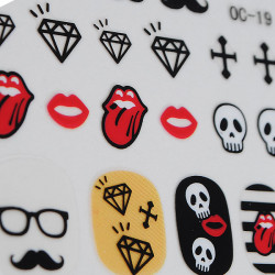 Funny Series Sticker Moustache Geek Nail Art Decals