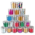 Glitter Shiny Metallic Nail Art Transfer Foil Sticker Roll Decals Nail Art