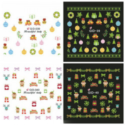 Glow I Night Jul Vand Transfer Decals Negle Lysende Sticker