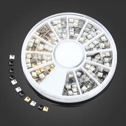 Gold Silver Black Square DIY Nail Art Decoration Wheel