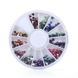 Heart Diamond 12 Colors Crystal Glitter Rhinestone Nail Art Decoration