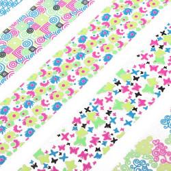 Stor Sheet Sommerfugl Decal Fluorescens Farve Nail Art Sticker