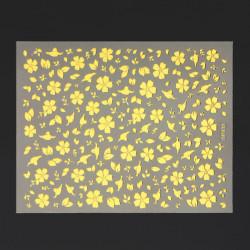 Metallic Gold Adhesive Flower Leaf Design Nail Art Sticker Decal