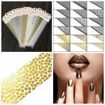 Mix Hålmönster Snygg Nagelkonst Klistermärke Dekalen Dekoration Naglar