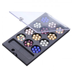 Multi-color Round Nail Art Glitter Crystal Rhinestone Phone Decoration