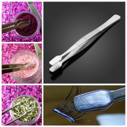 Multifunctional Clip Nail Art Flocking Powder Tweezers