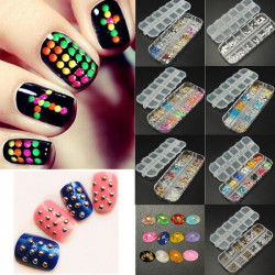 Nail Art Crystal Glitters Rhinestones Rivets Metal Arcylic Decoration