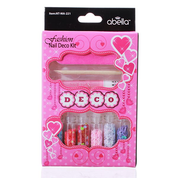 Nail Art Glitter Tips Decoration Glue File Set Nail Art