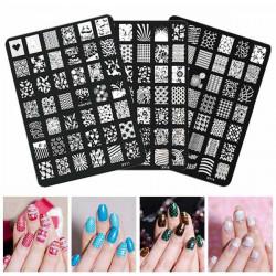 Nagel Kunst Bild Druckplatten polnischen Stamping Schablonen DIY Tipps Entwurf