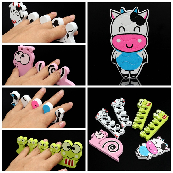 Nail Art Soft Sponge Foam Finger Toe Separators Pedicure Manicure Nail Art
