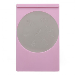 Nail Stamping Image Round Printing Plate Holder Stand Tray