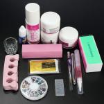 Pro Clipper Acrylic Powder Liquid Glitter Brush Nail Art Tool Set Kit Nail Art