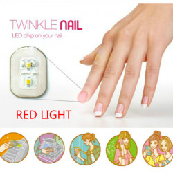 Red Light NFC Nagelsticker Flash LED Intelligent Dekal Party Club