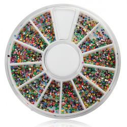 Shiny Nagelkonst Dekoration Glitter Rhinestones Pärlor Hjul