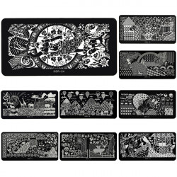 Stainless Nagel Kunst Bild Stempel Platten Maniküre Schablone