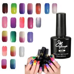 Temperatur die Farbe wechseln Nagel Kunst Soak Off UV Gel Polish