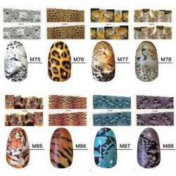 Tiger Snake Nagelkonst Sticker Design Nagellack Dekal Klistermärken