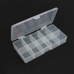 Transparent Empty Negletipper Tipper Opbevaring Box Rhinestone Perler Gem Case Negle