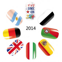 World Cup Flag Nagelkonst Sticker Design Nageltippar Klistermärken