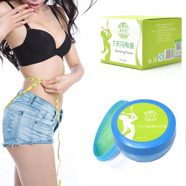 100ml Green Vægttab Fat Burn Krop Talje Ansigt Ben Slankende Cream Personlig Pleje