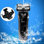 110-240V KM7888 Elektrisk Fuldt Vandtæt Rotary Razor Barbermaskine Barbermaskiner & Trimmere