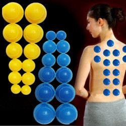 12st Mini Silikon Kinesiska Traditionell Medicinsk Cupping Cups