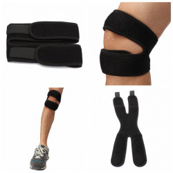2stk Justerbar Knee Patellarsene Support Brace Strap Guard