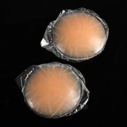 2 Runde Haut anhaftende mehrfachverwendbare Silikon Nippel Abdeckungs Büstenhalter Auflage