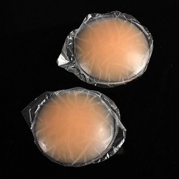 2 Runde Skin Klæbemiddel Genanvendelig Silicone Nipple Cover Bra Pad Personlig Pleje