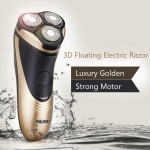 3D Floating Leder RQ725 Gyldne Elektrisk Razor Barbermaskine Barbermaskiner & Trimmere