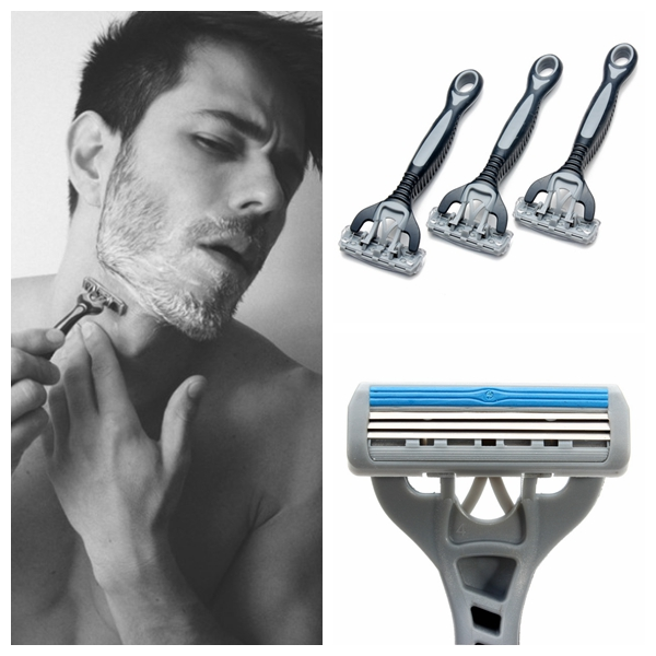 3Pcs 3 Edges Classic Men Safety Manual Razor Shaver Shavers & Hair Removal