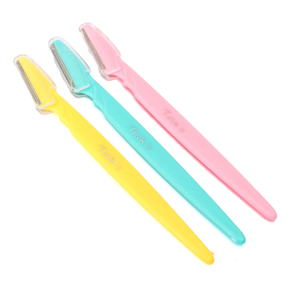 3Pcs Tinkle Eyebrow Face Razor Trimmer Hair Remover Set Shavers & Hair Removal
