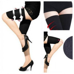 420D Black Slimming Thigh Pressure Shape Socks