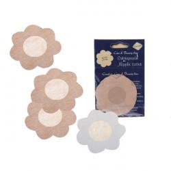 5 Par Blomst NIPPLE Non-Woven Sticker Engangs Fabric Bra