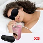 5stk 3D Cotton Sleeping Øjenmaske Øje Shade Travel Nap Cover Blindfold Personlig Pleje