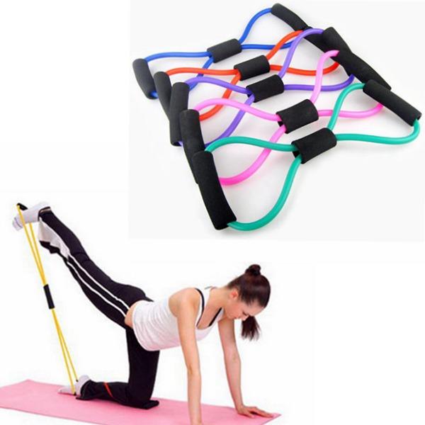 5stk Yoga 8 Type Resistance Band Tube Body Building Fitness Værktøj Personlig Pleje