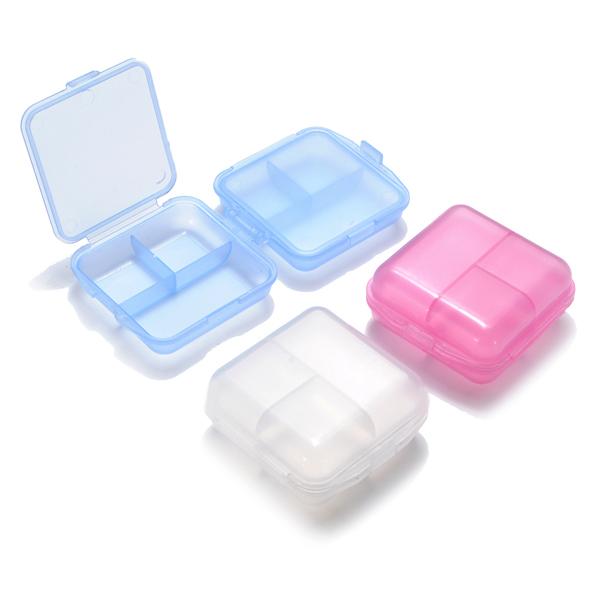 6 Rum 2 Layer Portable Pill Opbevaring Box Organizer Personlig Pleje