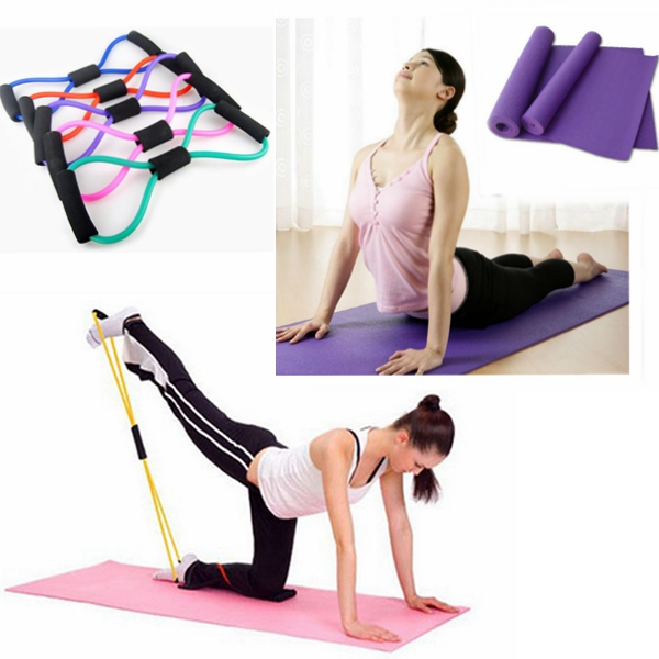 8 Type Resistance Band Tube Fugtsikker Blanket Yoga Mat Personlig Pleje