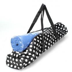 Svart Vit Dot Yogamatta Vattentät Ryggsäck