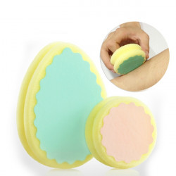 Double Side Round Painless Hair Removal Exfoliating Sponge Remover