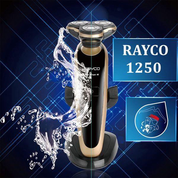 Gyldne RAYCO1250 Genopladelig Barbermaskine Vaskbar 3 Hoveder Razor Barbermaskiner & Trimmere