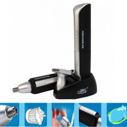 HS-3036 Waterproof 2 In 1 LED Light Mustache Nose Ear Hair Trimmer