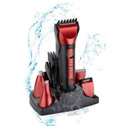 KM8058 5 I 1 Vattentät Flerfunktions Elektrisk Hair Clipper Rakapparat