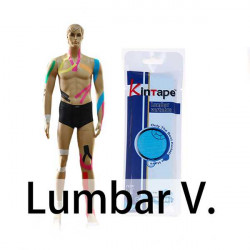 Kintape Lumbar Vertebra Muscles Cure Therapy Kinesiology Tape
